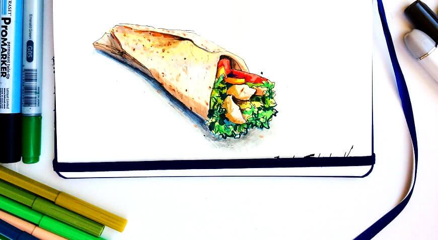 Food-иллюстрация про булимию