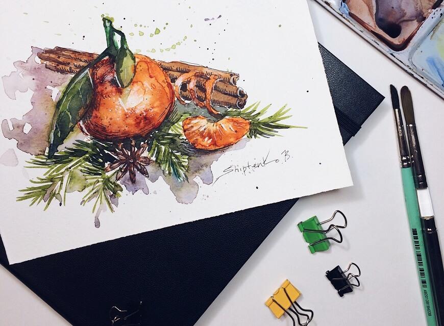 Иллюстрация еды и компульсивного переедания
