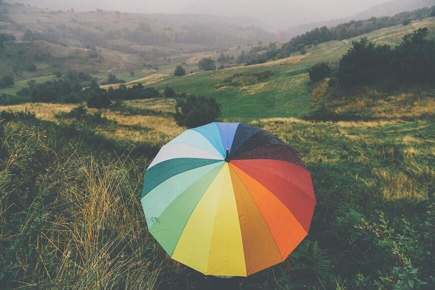 Разноцветный зонт